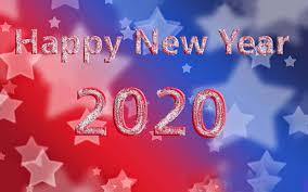 happy new year 2020 greeting card for
