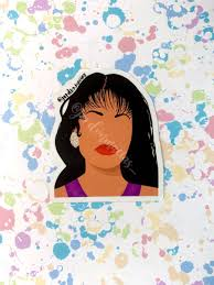 Selena Quintanilla Silhouette Vinyl Sticker Jordvnmacias