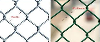 6x6cm Aperture 6 Ft Chain Link Fence Galvanized Pvc Coated As Ground Fencing