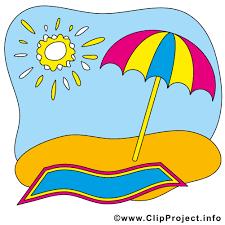 Beach - letnie cliparty za darmo
