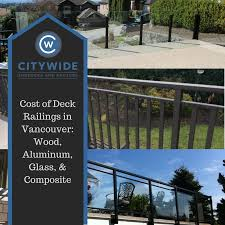 cost of deck railings in vancouver