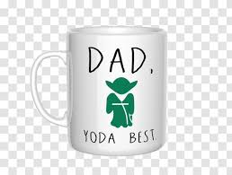 Yoda Anakin Skywalker Sticker Coffee Cup Wall Decal Polyvinyl Chloride Best Dad Ever Transparent Png