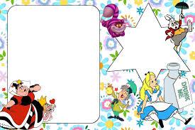 Invitaciones De Alicia En El Pais De Las Maravillas Para Imprimir