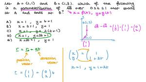 straight line parametric form