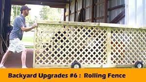 rolling fence gate diy backyard