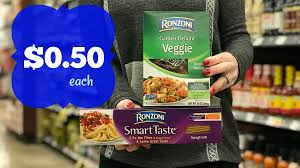 grab ronzoni pasta for just 0 50 each