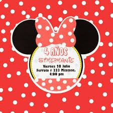 Invitaciones Cumpleanos Impresas Minnie Mouse Mimi 8 50 En