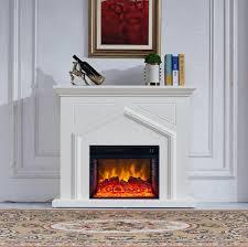 Electric fireplace ElectricSun Ada white, 26 inch insert ...