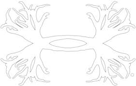 Amazon Com Under Armour Ua Big Antler Logo Decal 15 Inch One Size Fits All White Automotive