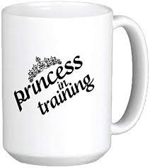 Amazon Com 15 Oz Princess In Training Ceramic Coffee Mug By Demon Decal Kitchen Dining