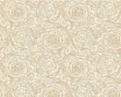 ornaments baroque gold cream wallpaper