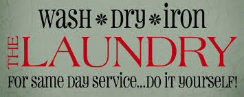 Wash Dry Iron Laundry Room Vinyl Wall Decal