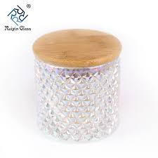 mercury glass candle jars with wood lid