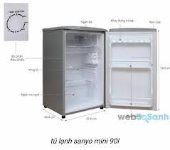 Thanh lý tủ lạnh mini Sanyo 90l SR9KR - chodocu.com