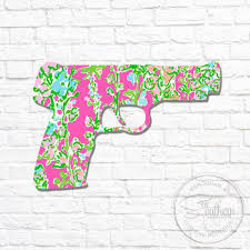 Lilly Pistol Gun Decal Sew Southern Designs