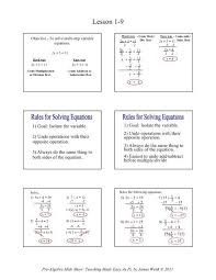 1 9 solving two step equations math
