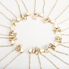 tiny gold initial necklace gold