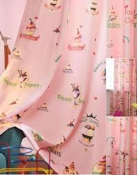 Cute Light Baby Pink Cupcake Alphabet Girls Kids Room Blackout Curtains