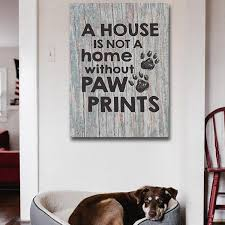 Canvas Wall Art For Pet Lovers A House Not Home Without Paw Prints Gearden