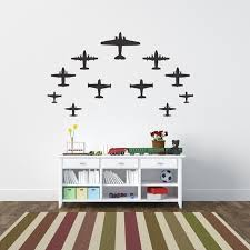 Airplanes Wall Decal Airplanes Wall Decals Kids Room Wall Stickers Kids Room Wall Decals