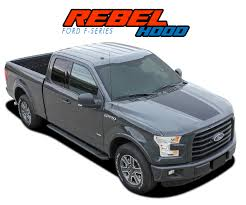 Rebel Hood Ford F150 Stripes F150 Decals F150 Vinyl Graphics