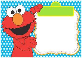 Blue Elmo Invitation Template For Boys Invitaciones Elmo