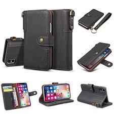 iphone x retro wallet magnetic luxury