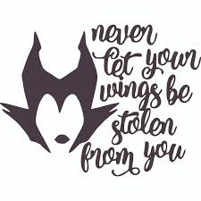 Design With Vinyl Maleficent Wings Quote Cartoon Wall Decal Wayfair
