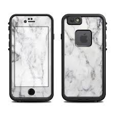Lifeproof Iphone 6 Fre Case Skin White Marble By Marble Collection Decalgirl