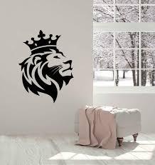 African Lion King Head Wall Decal Nursery Kids Room Predator Tribal Vinyl Wall Stickers Bedroom Home Decor For Living Room W077 Aliexpress