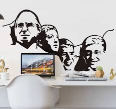 Mount Rushmore Geek Character Wall Sticker Tenstickers