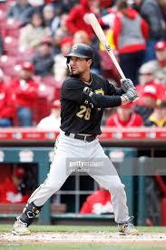 ADAM FRAZIER - Adam Frazier of the Pittsburgh Pirates bats against ...