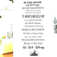 home decor items furniture stickers disney in this house we do