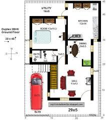duplex house 3bhk 30x45 east facing