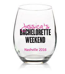 Bachelorette Decal For Bachelorette Weekend Party Wine Glass Etsy Bachelorette Cups Party Glass Wine Bachelorette Party