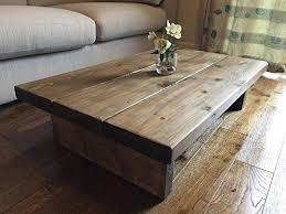solid rustic handmade pine coffee table