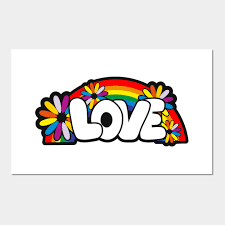 graffiti art style love word with
