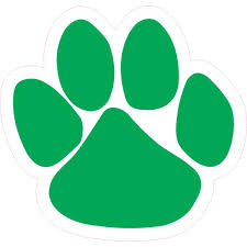 4 75in X 5in Green Paw Print Bumper Sticker Vinyl Car Window Mascot Decal Walmart Com Walmart Com
