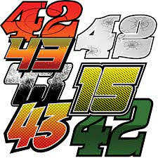 Race Car Numbers Number Kits Racegraphics Com