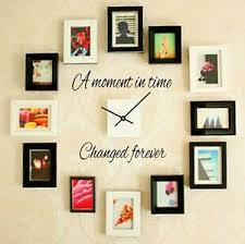 A Moment In Time Changed Forever Wall Art Decal Quote Words Lettering Decor Ebay