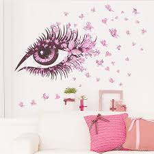 Fairy Girl Eye Wall Sticker Flower Butterfly Decoration Accessories Bedroom Living Room Stickers On The Wall Pvc Mural Art Decal Price 3 50 Home And Garden Price