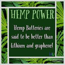 "Hemp Untapped on Twitter: ""Batteries made from #hemp outperform ..."