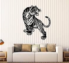 Amazon Com Andre Shop Vinyl Wall Decal Abstract Tiger Predator Big Cat Stickers Large Decor23sx63i Home Kitchen