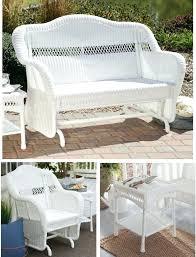 white patio set resin wicker furniture