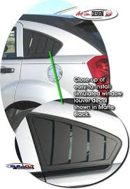 Simulated Window Louver Decal Set 1 For Dodge Caliber Dodge Caliber Dodge Caliber Srt4 Dodge