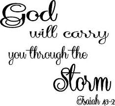 Isaiah 43 2 God Will Carry You Through The Storm Vinyl Wall Decal Ebay