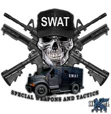Swat Teams Police Decal For The Thin Blue Line