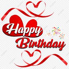 happy birthday heart png love birthday