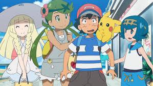Lillie, Mallow, Ash, Pikachu, Suiren (Lana) <3 Episode 20 ...