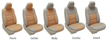 two tone colour leather seat covers